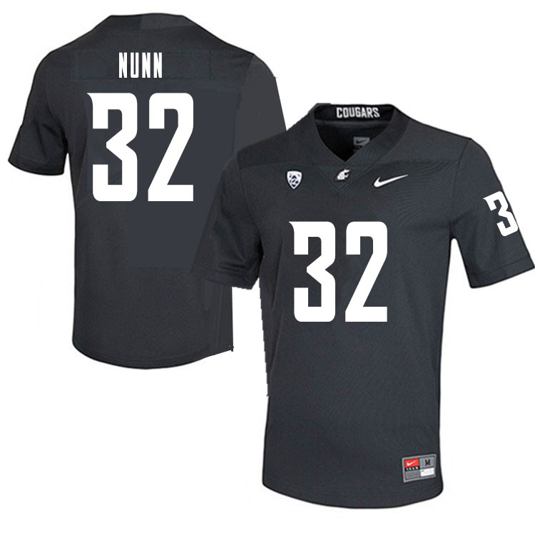 Men #32 Pat Nunn Washington State Cougars College Football Jerseys Sale-Charcoal