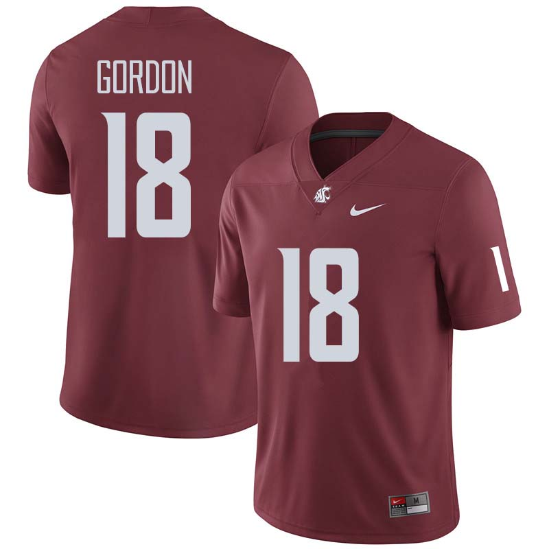 Men #18 Anthony Gordon Washington State Cougars College Football Jerseys Sale-Crimson