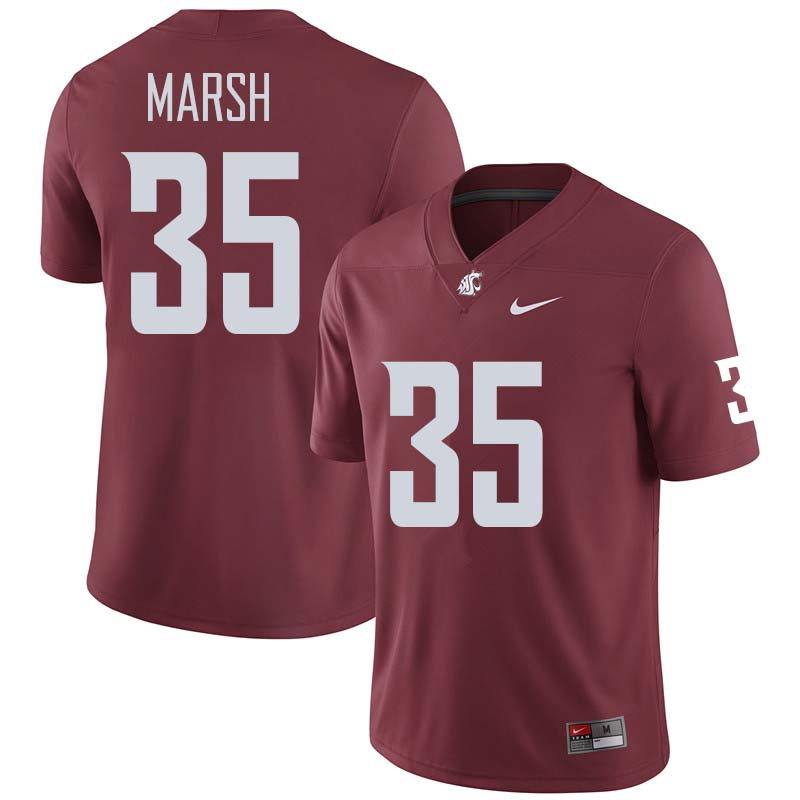 Men #35 Armani Marsh Washington State Cougars College Football Jerseys Sale-Crimson