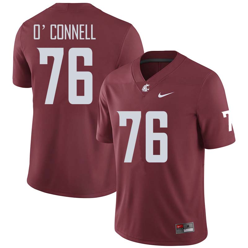 Men #76 Cody O'Connell Washington State Cougars College Football Jerseys Sale-Crimson