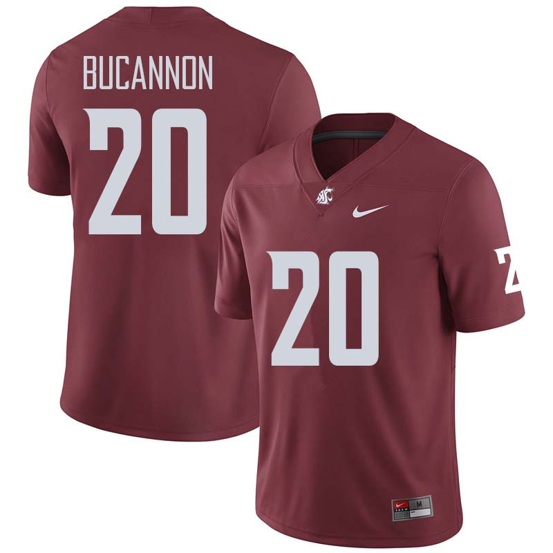 Men #20 Deone Bucannon Washington State Cougars College Football Jerseys Sale-Crimson