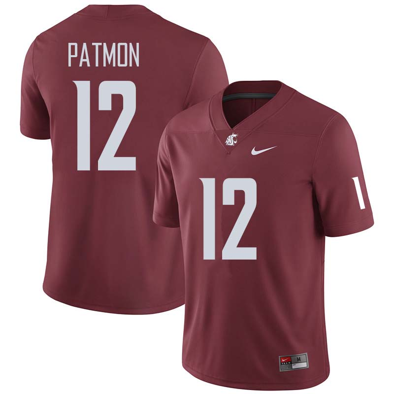 Men #12 Dezmon Patmon Washington State Cougars College Football Jerseys Sale-Crimson
