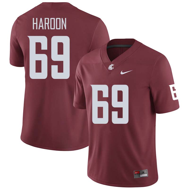 Men #69 Francis Haroon Washington State Cougars College Football Jerseys Sale-Crimson