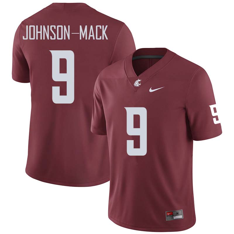 Men #9 Isaiah Johnson-Mack Washington State Cougars College Football Jerseys Sale-Crimson
