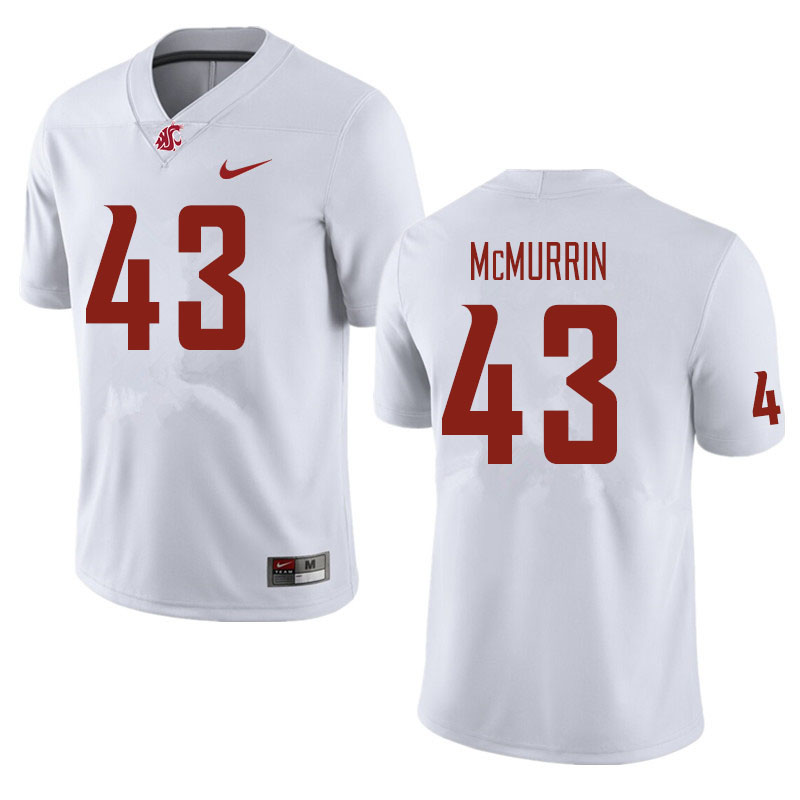 Men #43 Jamal McMurrin Washington State Cougars Football Jerseys Sale-White