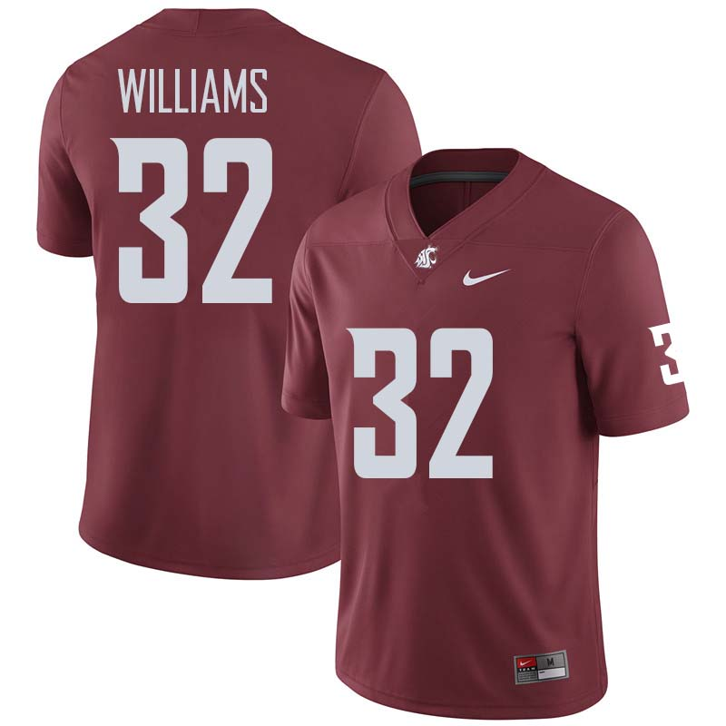 Men #32 James Williams Washington State Cougars College Football Jerseys Sale-Crimson