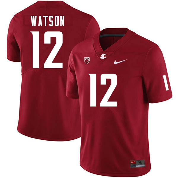 Men #12 Jaylen Watson Washington Cougars College Football Jerseys Sale-Crimson