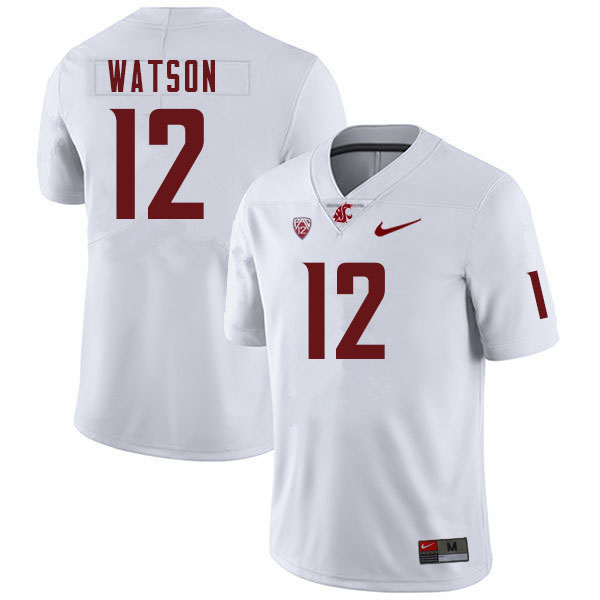 Men #12 Jaylen Watson Washington Cougars College Football Jerseys Sale-White