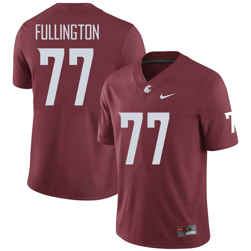 Men #77 John Fullington Washington State Cougars College Football Jerseys Sale-Crimson
