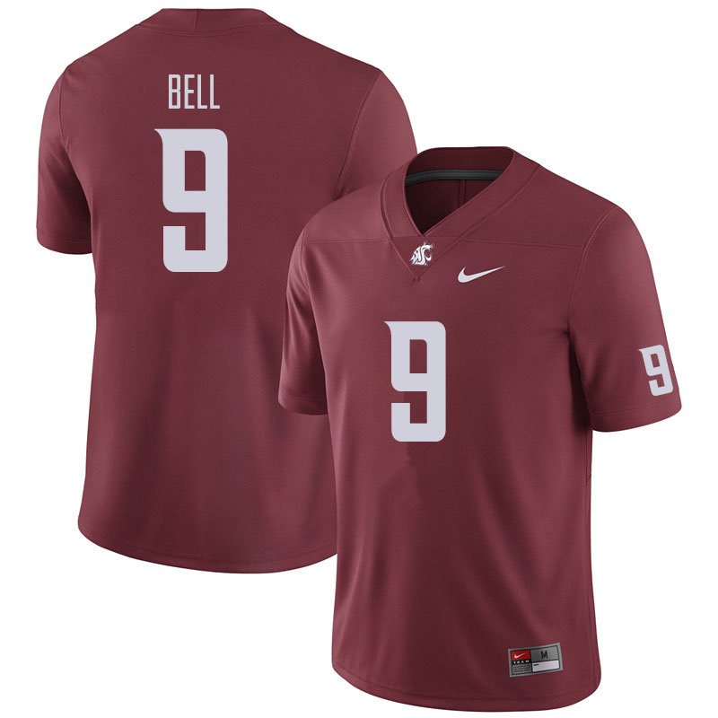 Men #9 Renard Bell Washington State Cougars Football Jerseys Sale-Crimson