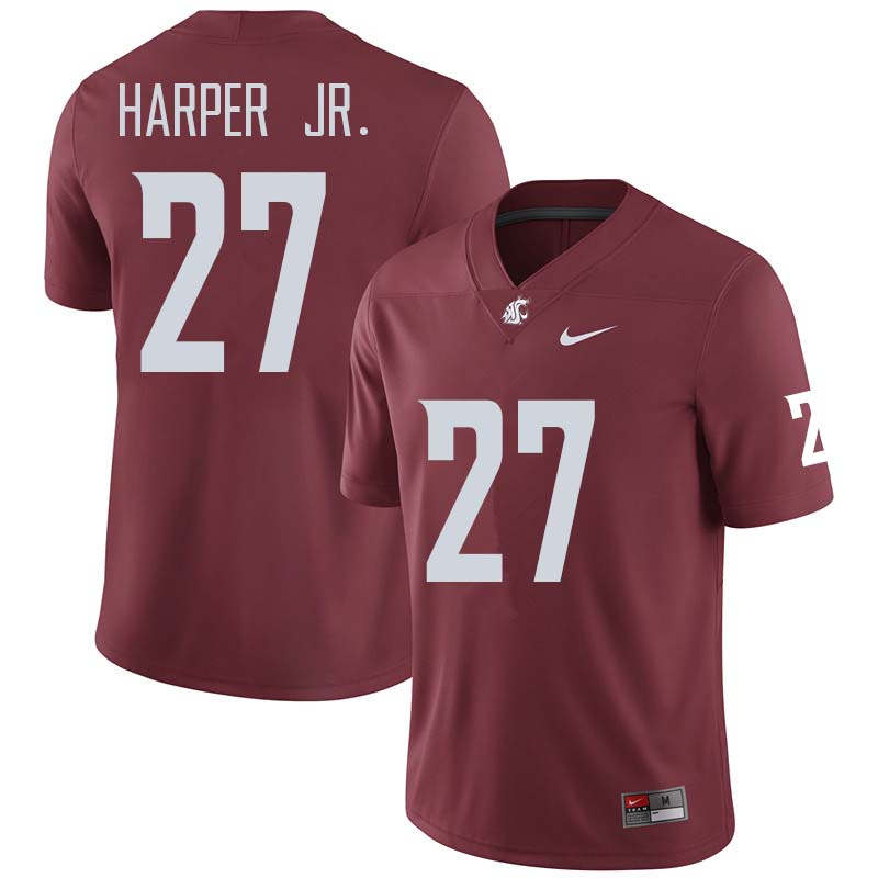 Men #27 Sean Harper Jr. Washington State Cougars College Football Jerseys Sale-Crimson
