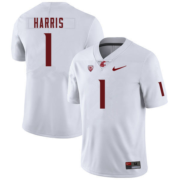 Men #1 Travell Harris Washington Cougars College Football Jerseys Sale-White