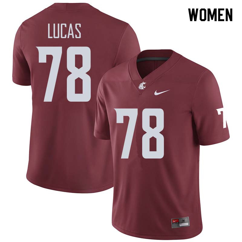 Women #78 Abraham Lucas Washington State Cougars College Football Jerseys Sale-Crimson