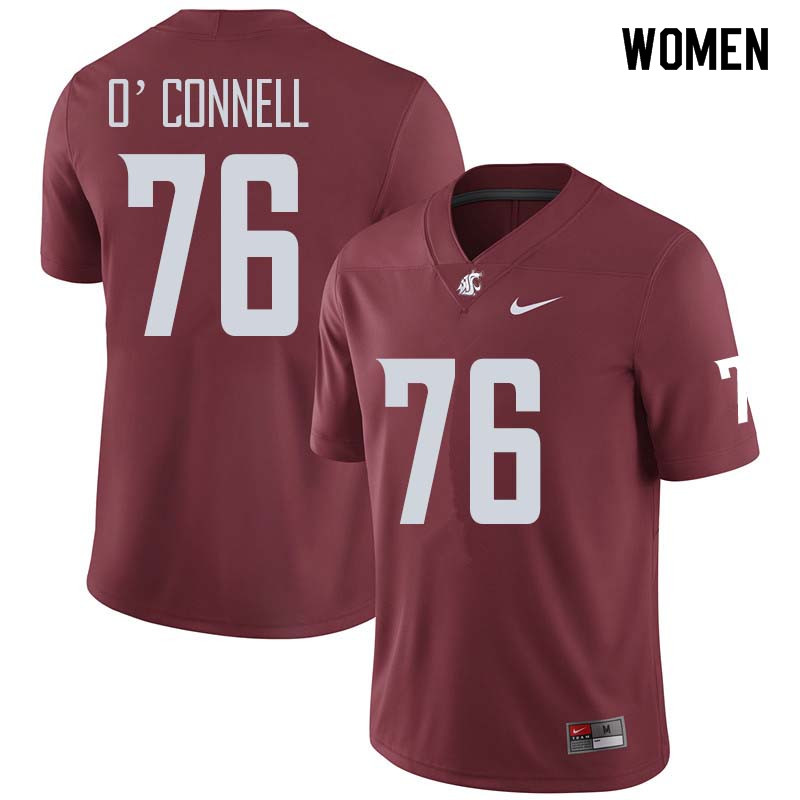 Women #76 Cody O'Connell Washington State Cougars College Football Jerseys Sale-Crimson