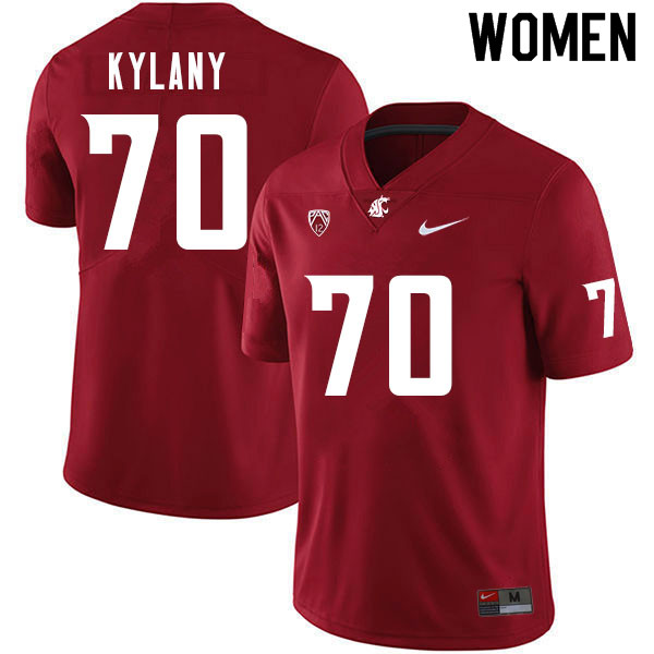 Women #70 Devin Kylany Washington Cougars College Football Jerseys Sale-Crimson