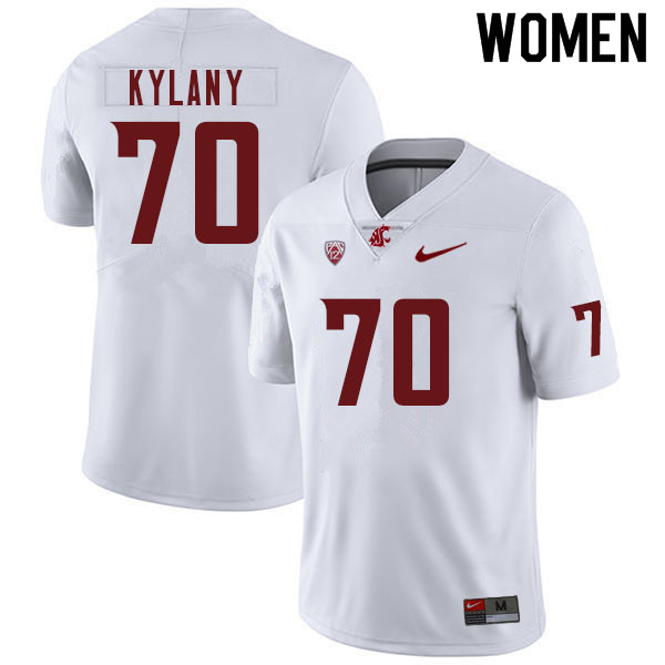 Women #70 Devin Kylany Washington Cougars College Football Jerseys Sale-White