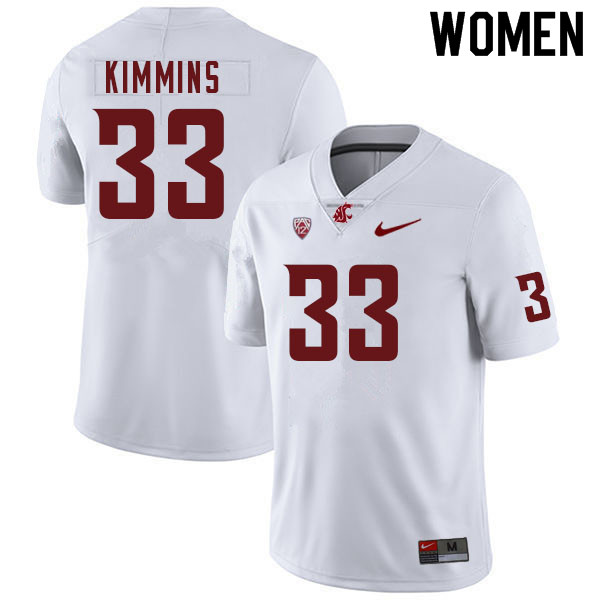 Women #33 Henry Kimmins Washington Cougars College Football Jerseys Sale-White