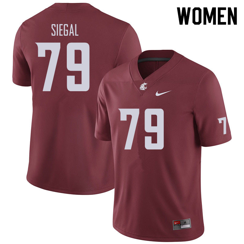 Women #79 Jake Siegal Washington State Cougars Football Jerseys Sale-Crimson