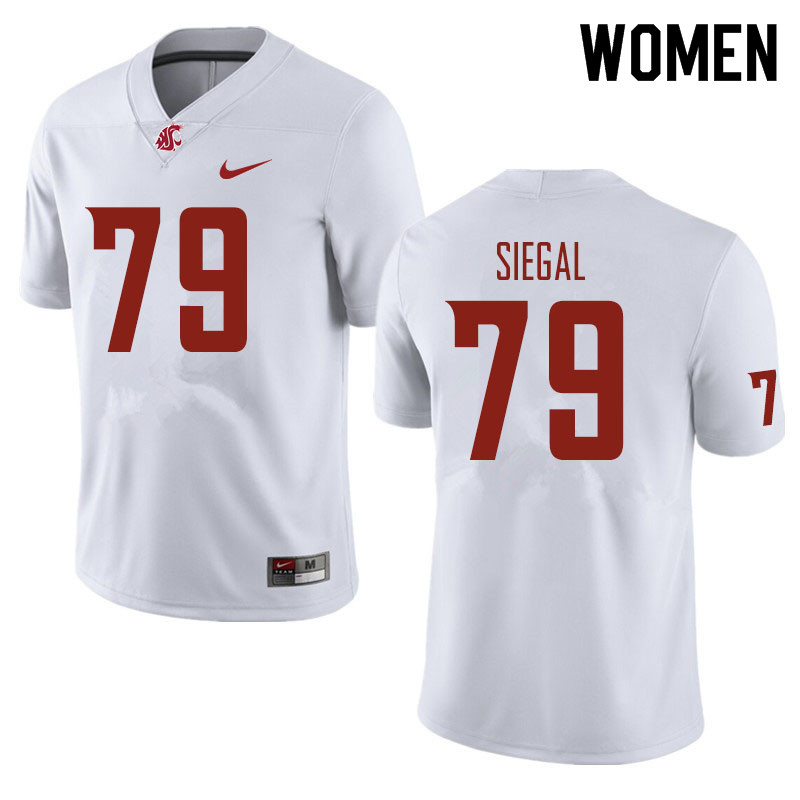 Women #79 Jake Siegal Washington State Cougars Football Jerseys Sale-White