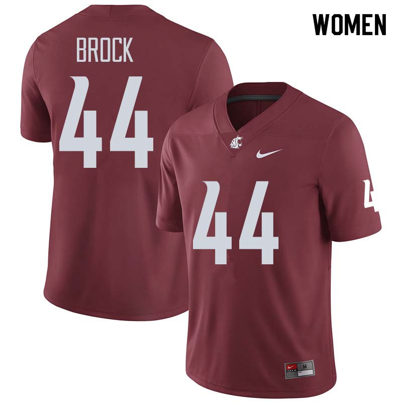 Women #44 Tristan Brock Washington State Cougars College Football Jerseys Sale-Crimson