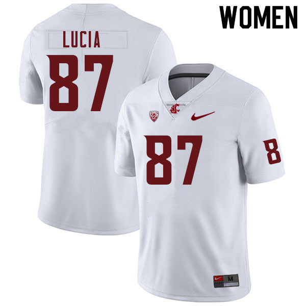 Women #87 Zion Lucia Washington Cougars College Football Jerseys Sale-White