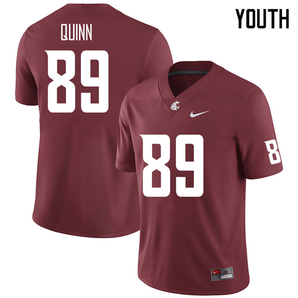 Youth #89 Mitchell Quinn Washington State Cougars College Football Jerseys Sale-Crimson