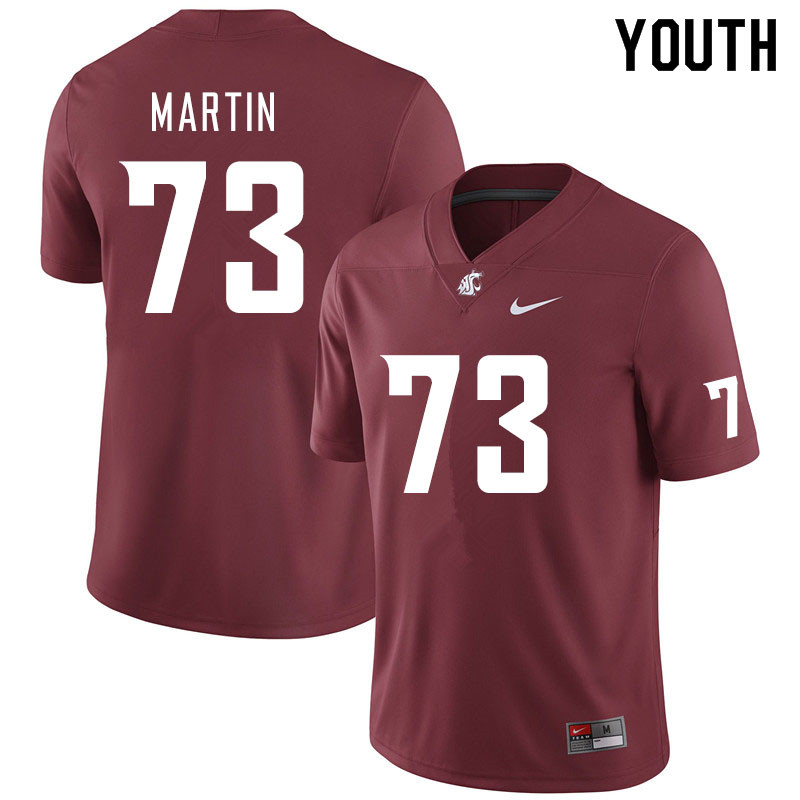 Youth #73 Austin Martin Washington State Cougars College Football Jerseys Sale-Crimson