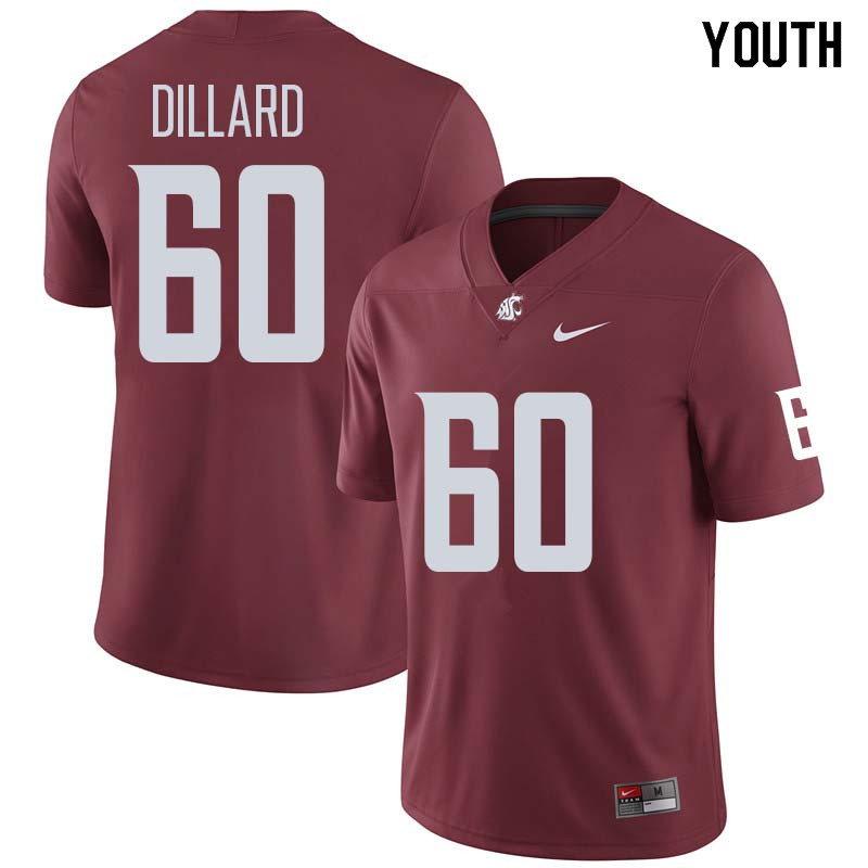 Youth #60 Andre Dillard Washington State Cougars College Football Jerseys Sale-Crimson