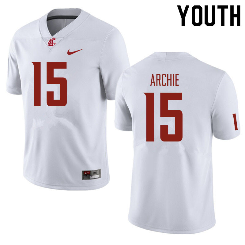 Youth #15 Armauni Archie Washington State Cougars Football Jerseys Sale-White