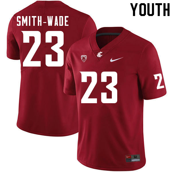 Youth #23 Chau Smith-Wade Washington Cougars College Football Jerseys Sale-Crimson