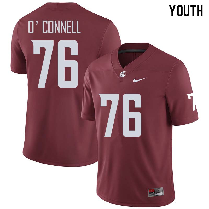 Youth #76 Cody O'Connell Washington State Cougars College Football Jerseys Sale-Crimson