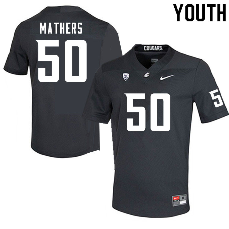 Youth #50 Cooper Mathers Washington Cougars College Football Jerseys Sale-Charcoal