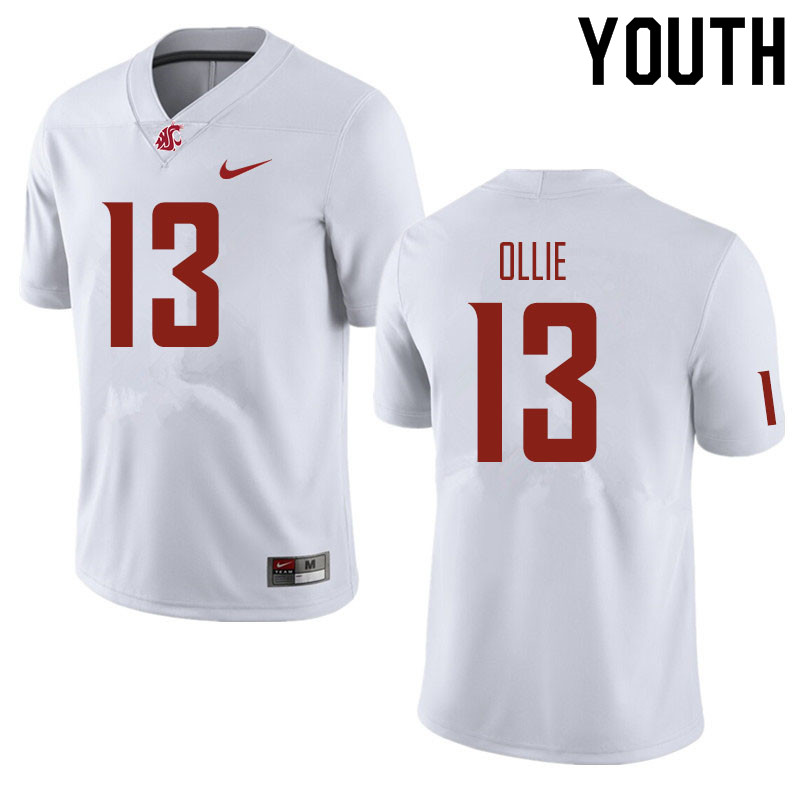 Youth #13 Donovan Ollie Washington State Cougars Football Jerseys Sale-White