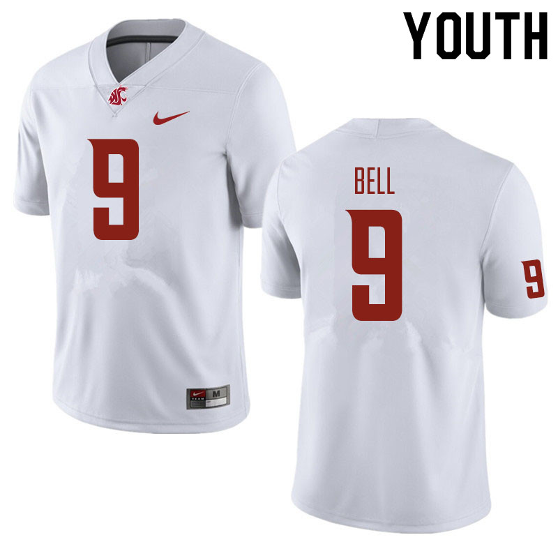 Youth #9 Renard Bell Washington State Cougars Football Jerseys Sale-White